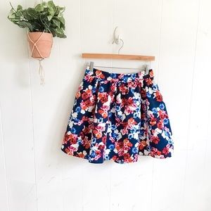 Express Floral Mini Skirt!